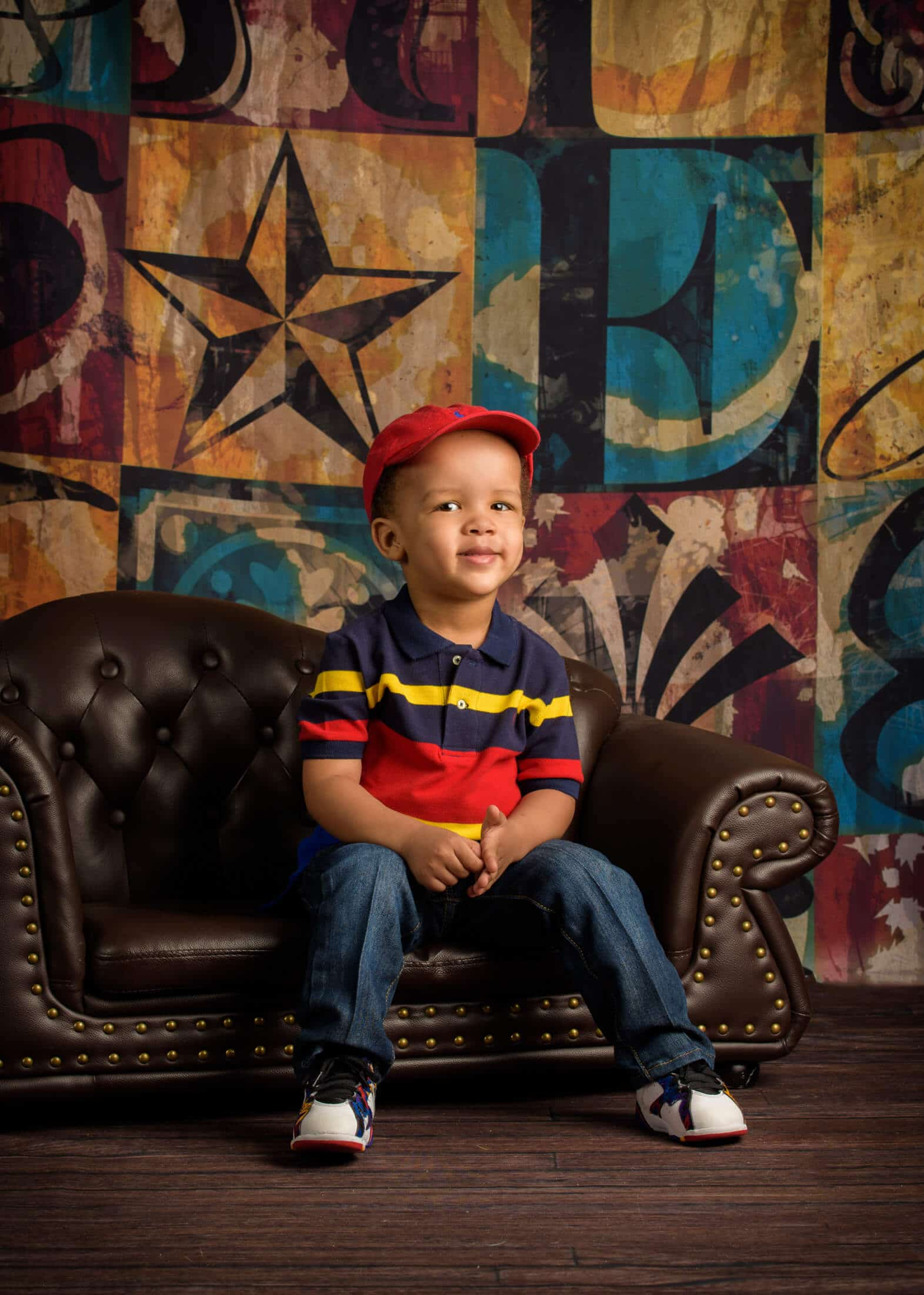 child portrait studio young boy