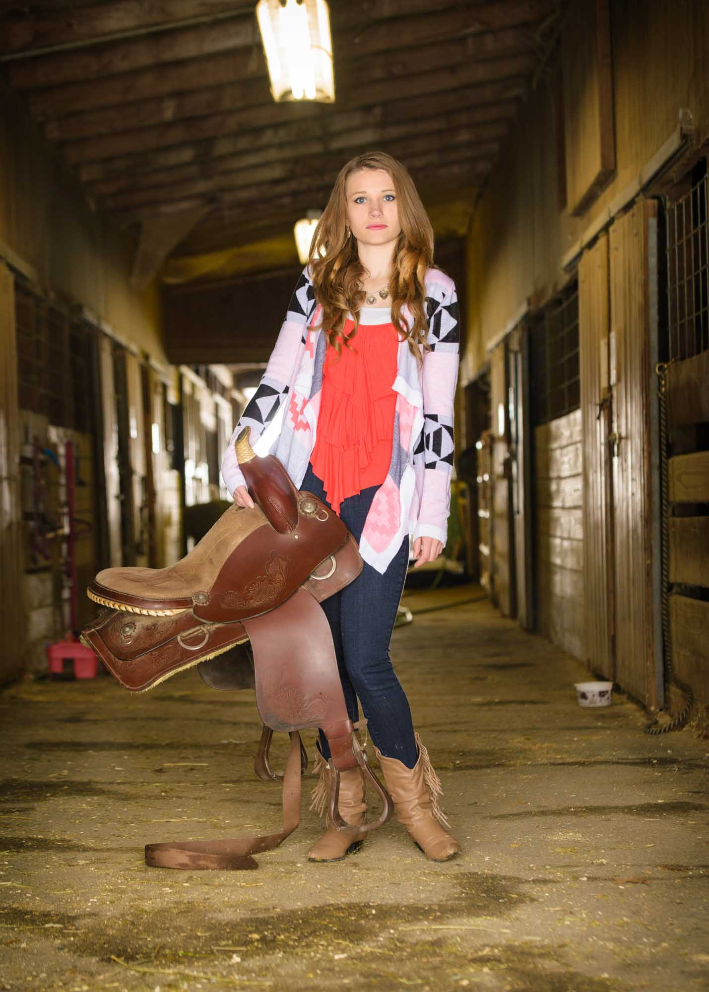 senior picture girl equestrian
